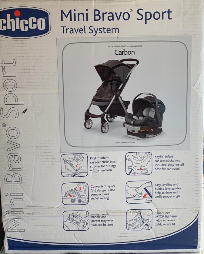 Photo New Chicco Mini Bravo Sport Travel System (Car Seat & Stroller)