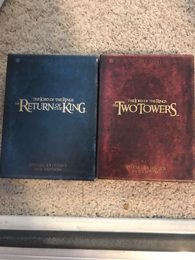 Photo Lord of the rings collectible DVD special addition sets