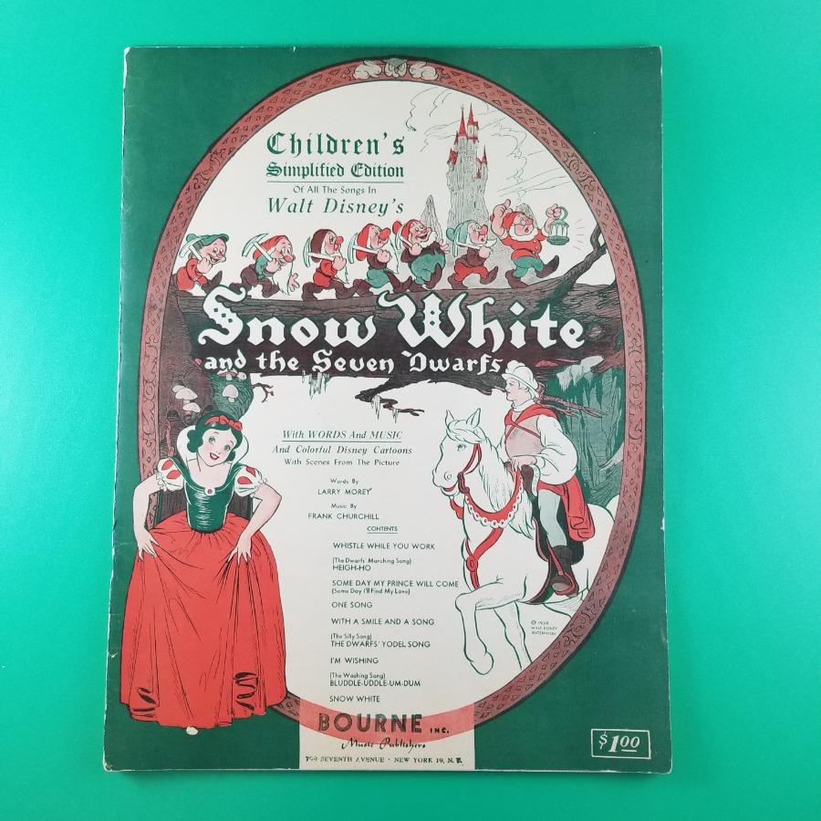 Photo 1938 Snow White Walt Disney Sheet Music