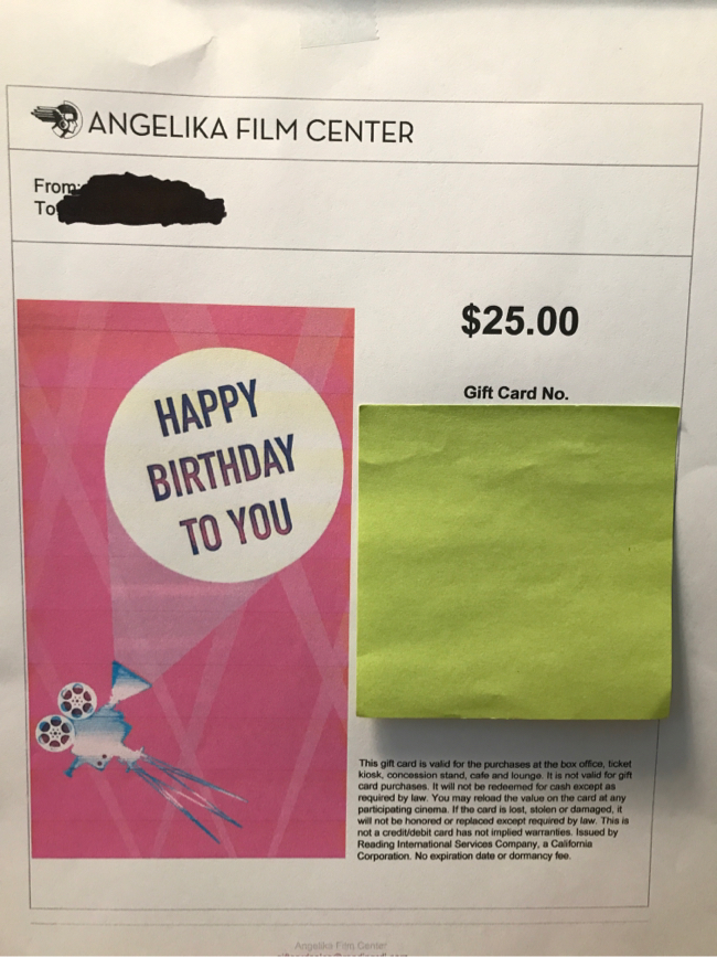 Photo Angelika Gift Card