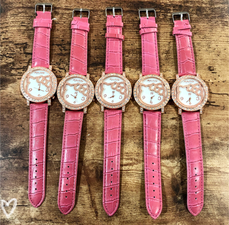 Photo 5 Piece Hot Pink Hello Kitty Watches