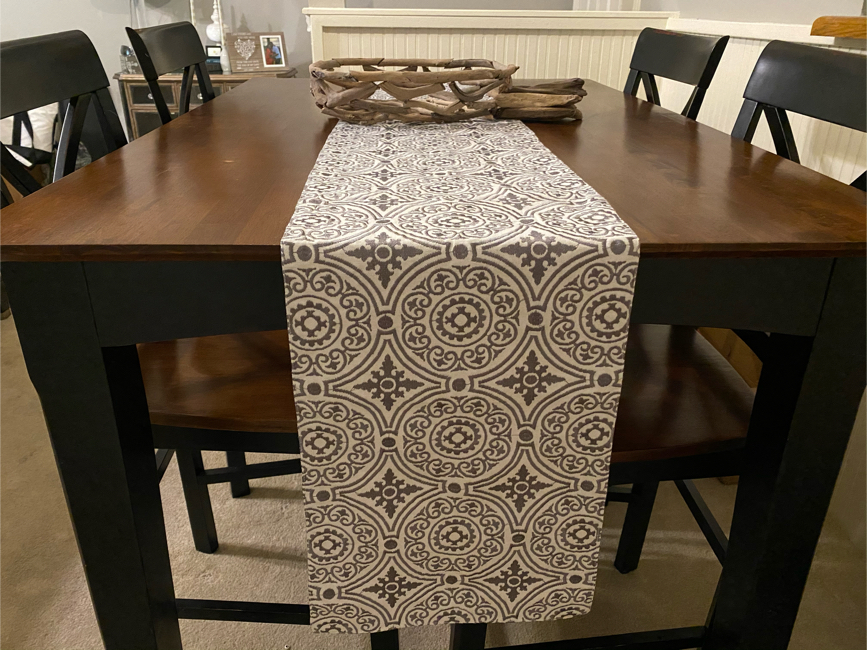 Photo Counter Height Dining Table Set With Four Chairs