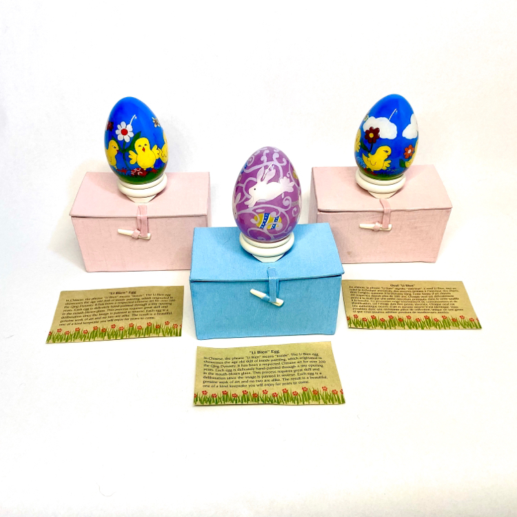 Photo 3 Pier 1 Imports Collectible 2008 Li Bien Hand-Painted Easter Eggs w/Boxes