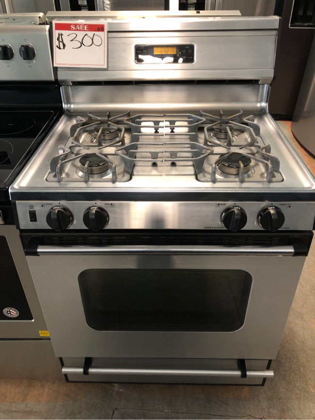 Photo Kenmore stainless steel gas stove 10% off