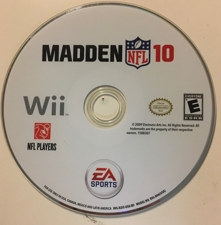 Photo NFL Madden 2010 10 EA Sports Football Nintendo Wii Video Game