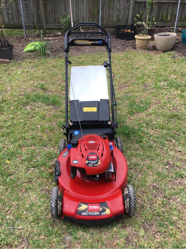 "Photo 22"" Toro Personal Pace self-propelled lawnmower"