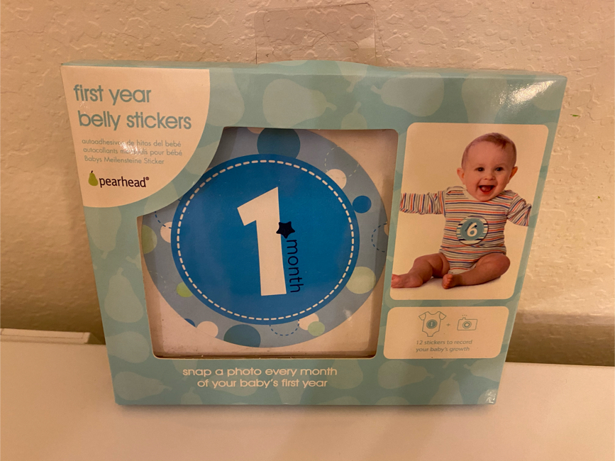 Photo 1st year belly stickers for baby boy