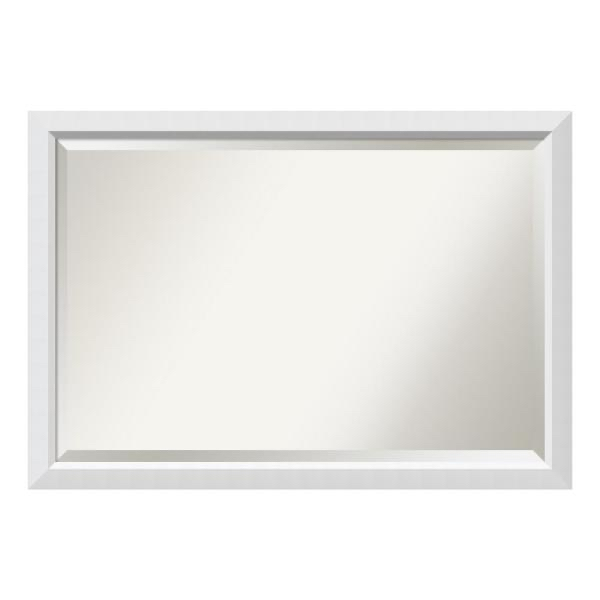 Photo New Other Amanti Art Blanco White Wood 39 in. W x 27in. H Single Contemporary Bathroom Vanity Mirror