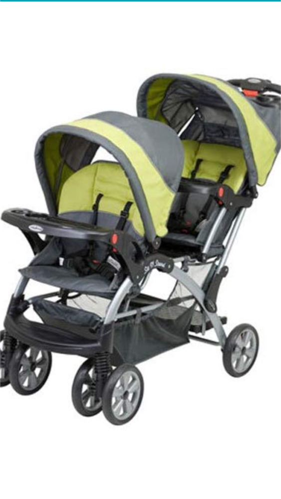 Photo Baby Trend Sit N Stand Double stroller in Carbon