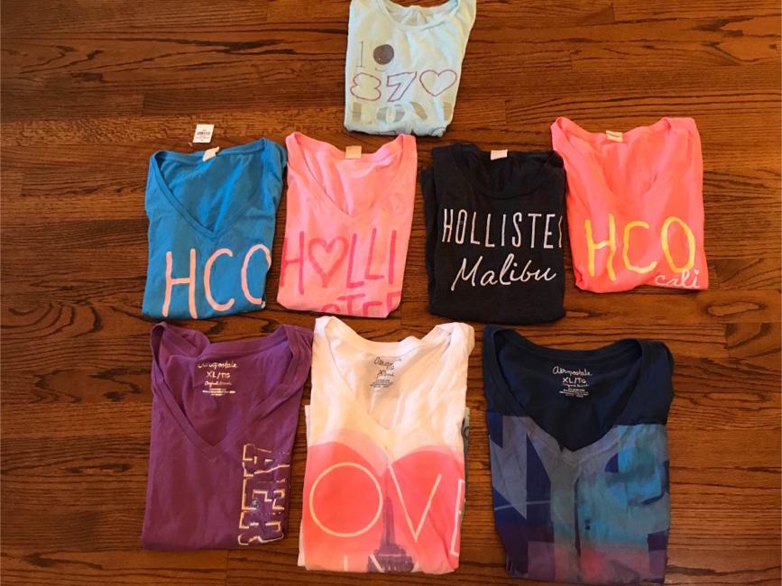Photo Juniors/Women's Hollister & Aeropostale Shirts