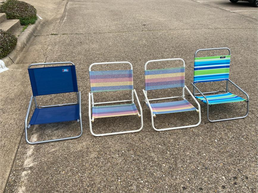 Photo Low Profile Beach Chairs $20 Each