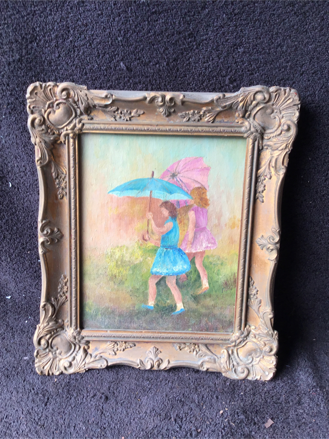 Photo Vintage 8x10 Picture with Frame