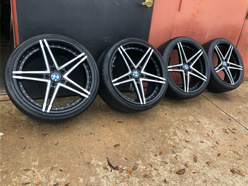 Photo BMW rims wheels 20 inch factory staggered 8.50 inch 10 inch 5 lug bolt pattern 120 mm set of 4