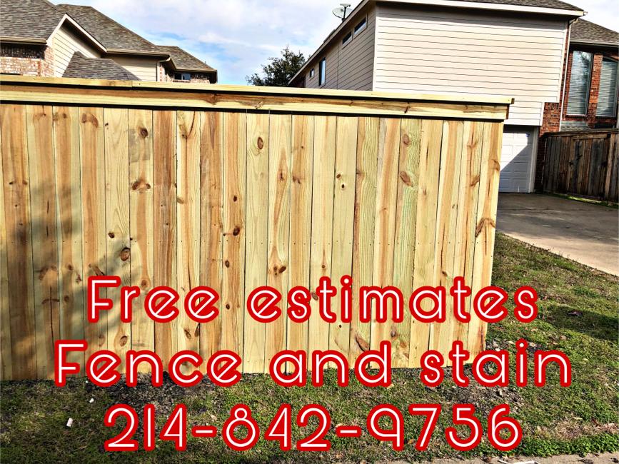 Photo Fence work - staining