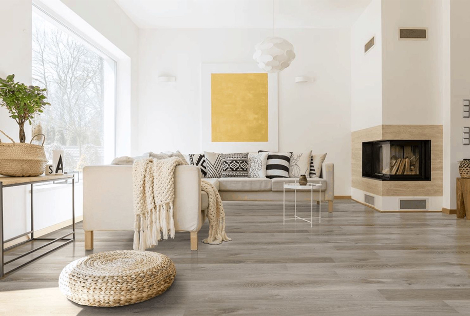 Photo 5mm Pelican Gray 7 in. x 48 in. Rigid Core Luxury Vinyl Plank Flooring With Pad $1.69 TAKE NOW LIMITED TIME $1.69/sqf