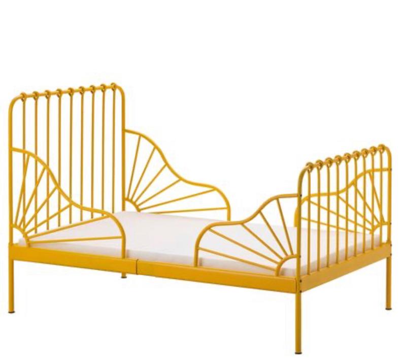 Photo IKEA twin yellow bed Frame like new