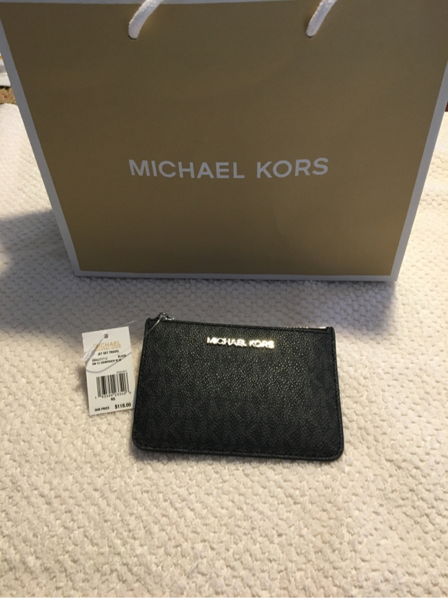 Photo Michael Kors Black Coin and ID Wallet