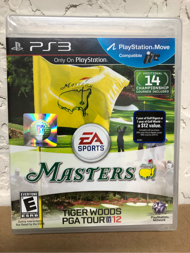 Photo NEW PS3 Masters Tiger Woods PGA Tour 12