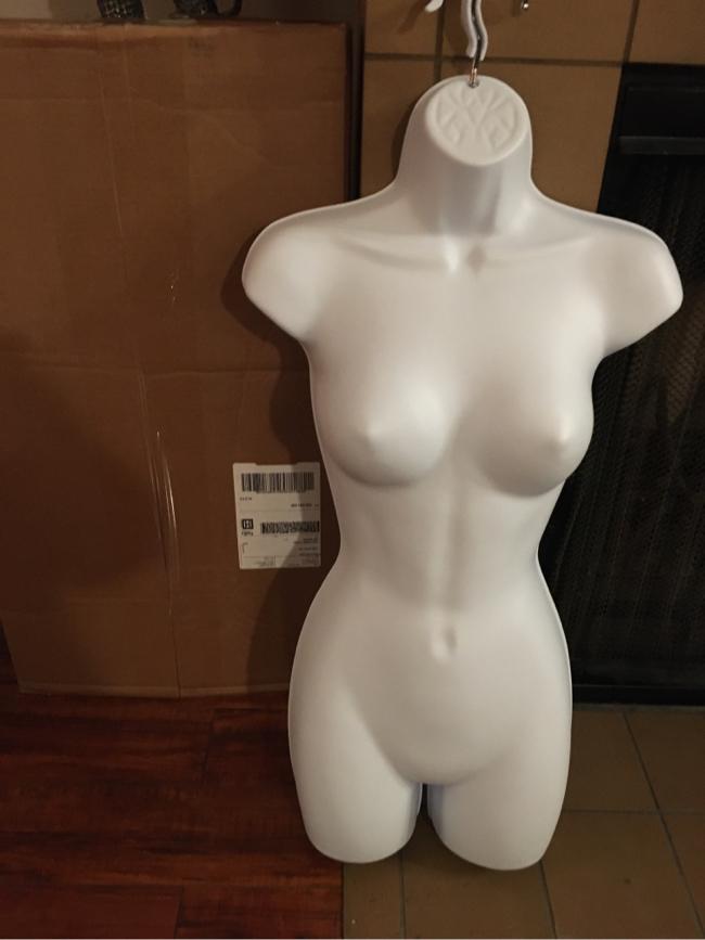 Photo Women's Full Torso Female Plastic Handging Mannequin Body Form White