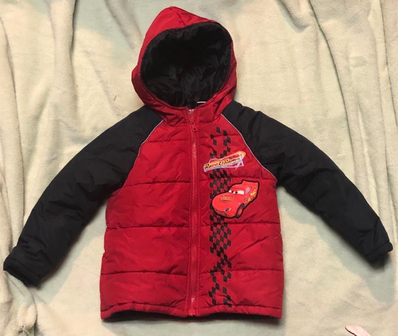 Photo Disney Toddler Boy's Cars Puffy Jacket Size 3t