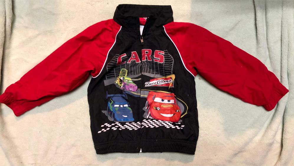 Photo Boys Disney Cars Hooded Zip Up Sweatshirt Size 4T