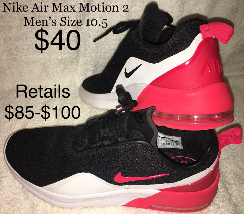 Photo Nike Air Max Motion 2 - Black/Red/White - Men's Size 10.5 - New