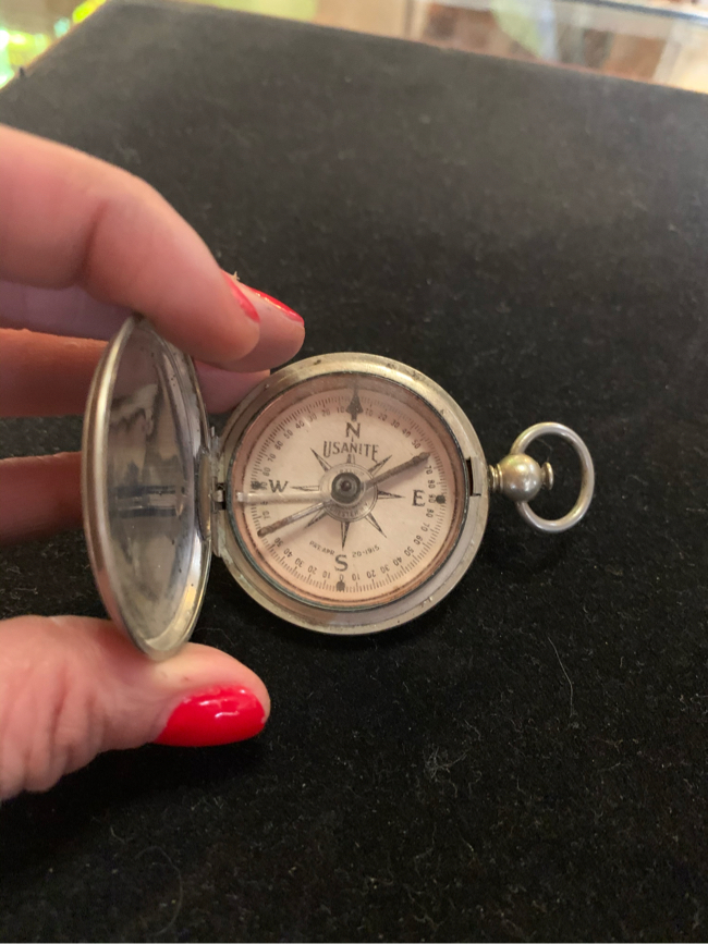 Photo 2x2 dated 1918 Engineers WWI COMPASS. Great for the collector or gift. 110.00. 212 North Main Street Buda. ☘️Johanna furniture collectibles sterling silver jewelry man cave items toys tools advertising signs resellers welcome find me on Instagram