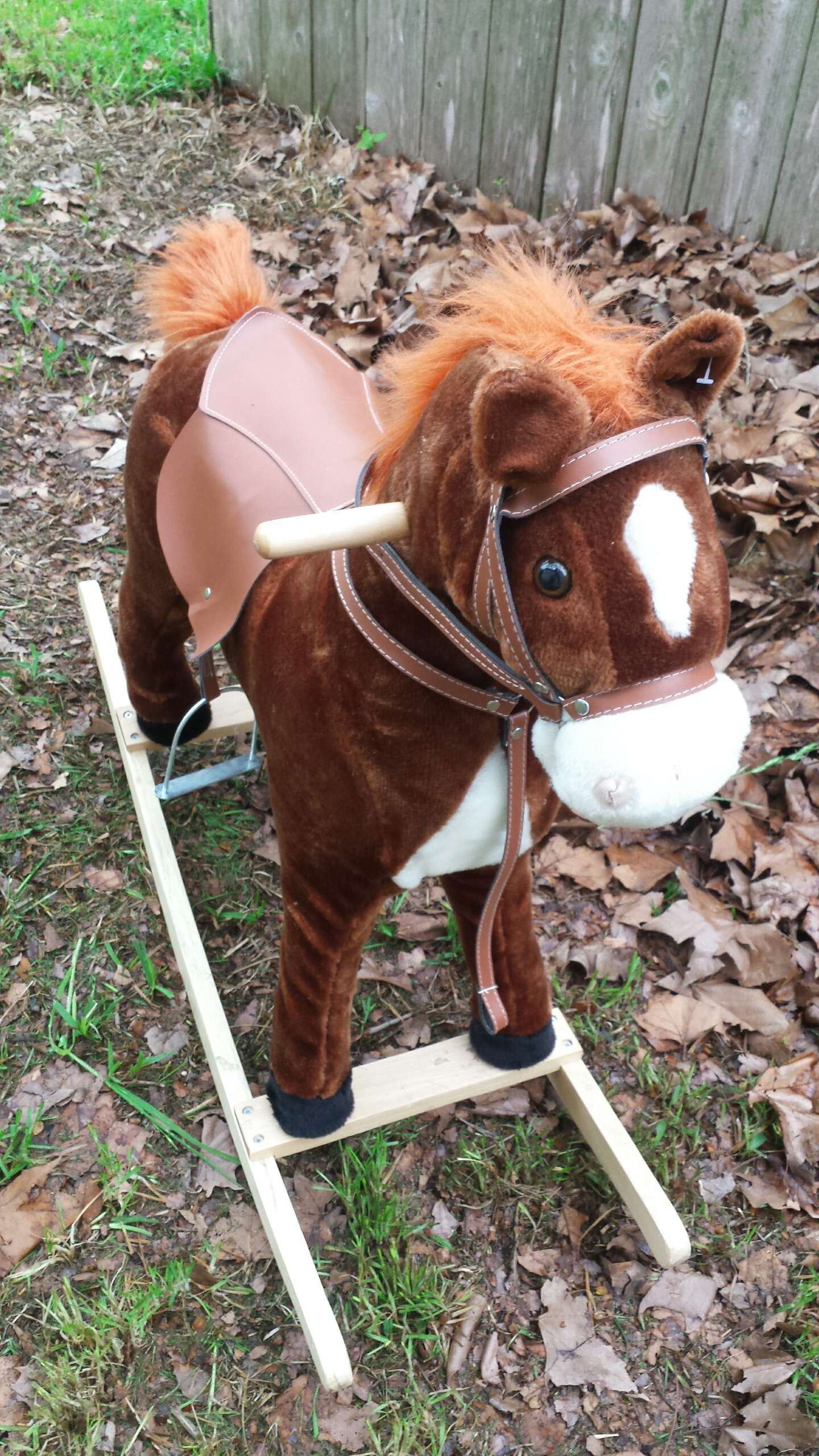 Photo Rocking Horse Toy for Babies and Toddlers Makes Sounds 31T