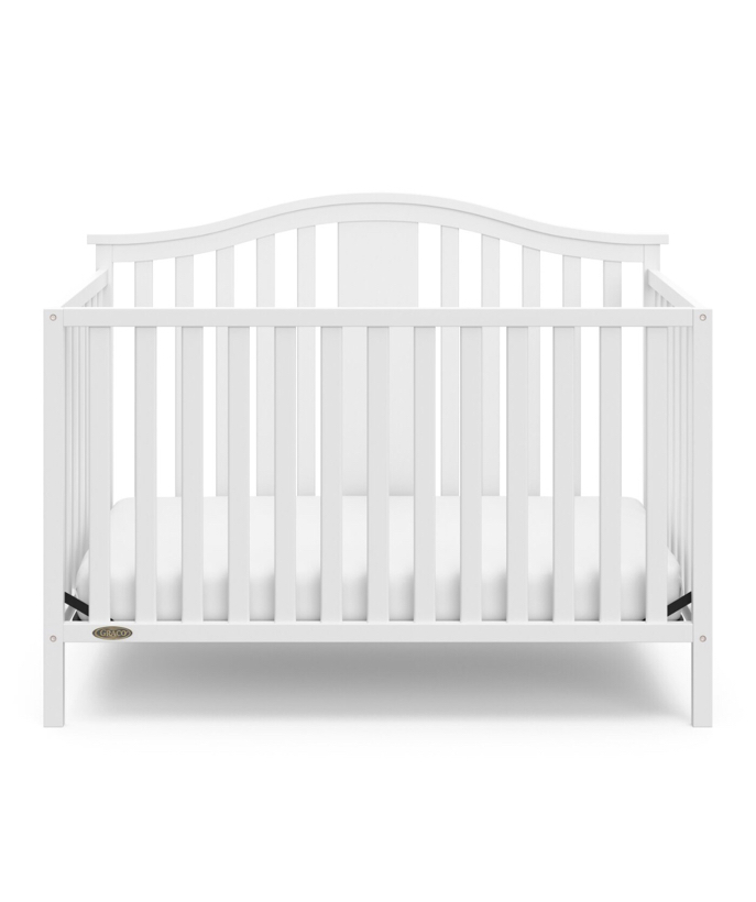 Photo Solano 4 - in - 1 Convertible Crib White by GRACO