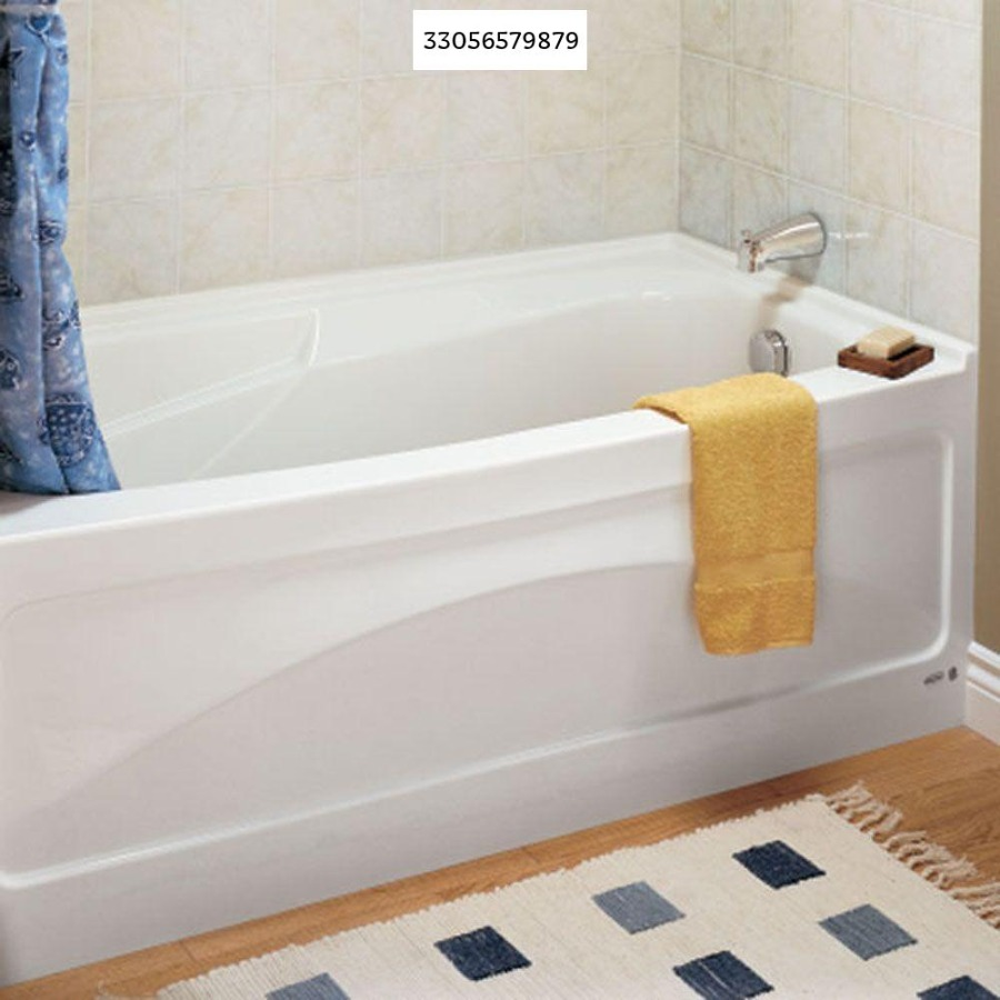 Photo American Standard Colony 66 in. x 32 in. Right Drain Whirlpool Tub with Integral Apron in White