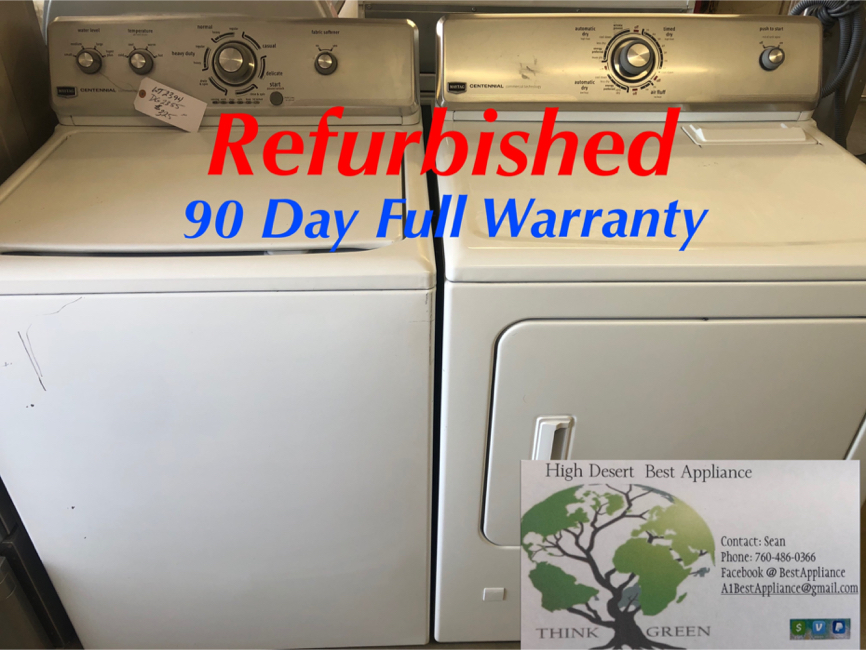 Photo Great Refurbished Maytag Washer/Gas Dryer Set