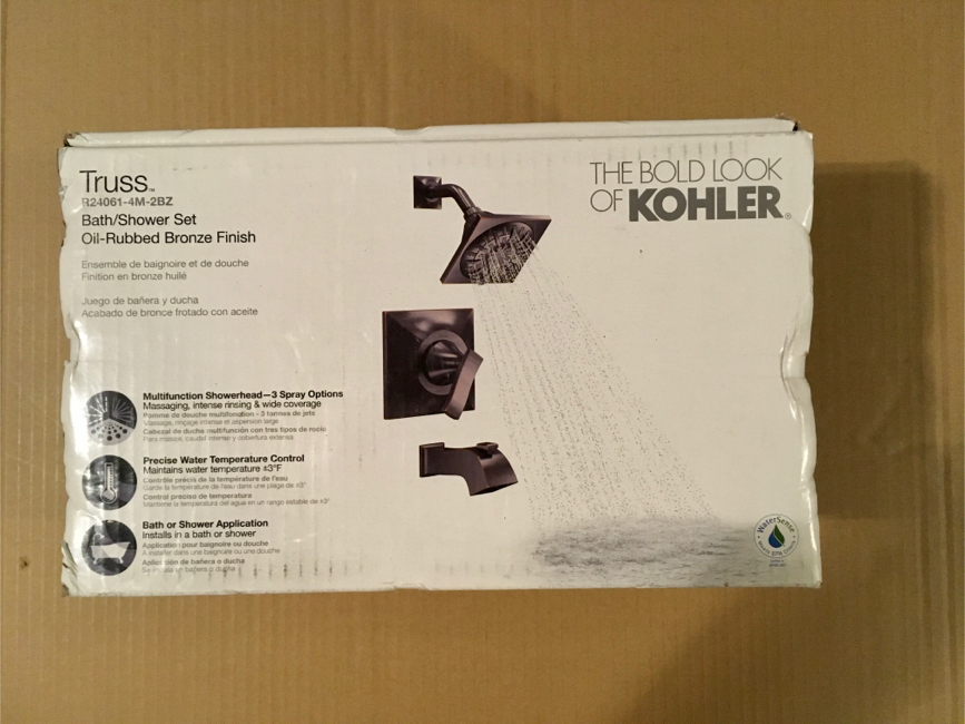 Photo KOHLER Truss Rite-Temp Single-Handle 3-Spray Tub and Shower Faucet in Oil-Rubbed Bronze (Valve Included)