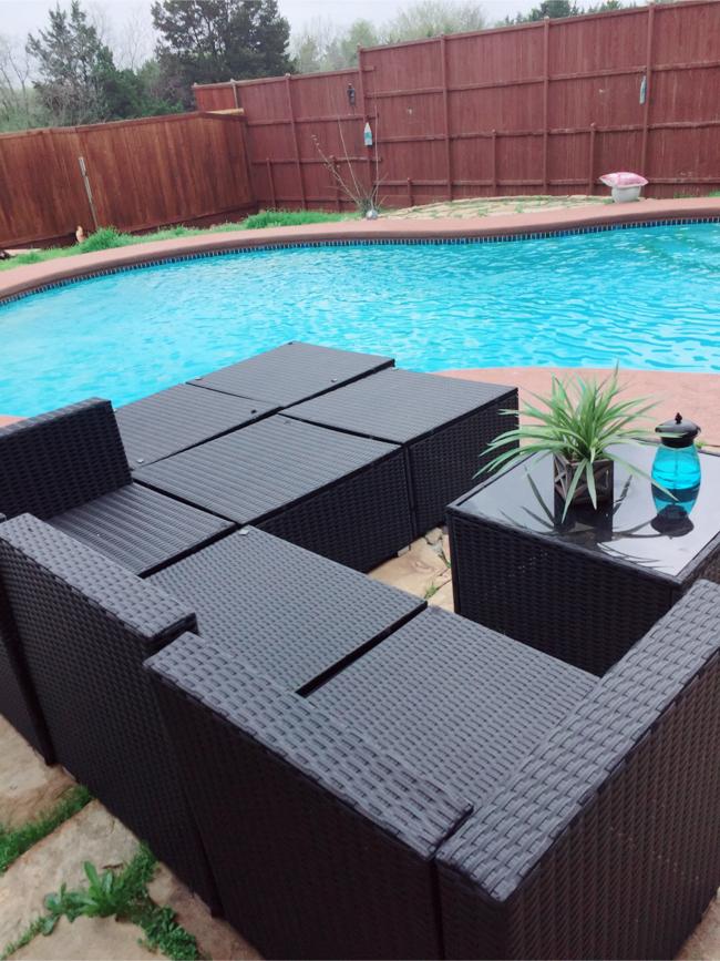 Photo 8 Piece Outdoor Patio Furniture Set