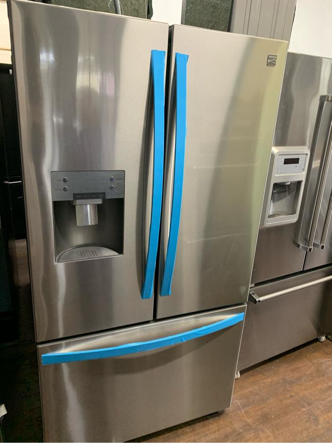 Photo Kenmore Stainless Steel 3 Door Refrigerator