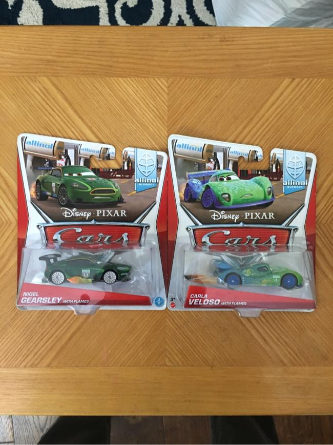 Photo Disney/Pixar Cars 2014 Allinol Nigel Gearsley & Carla Veloso NEW
