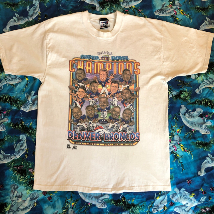 Photo Denver Broncos Super bowl tee '99