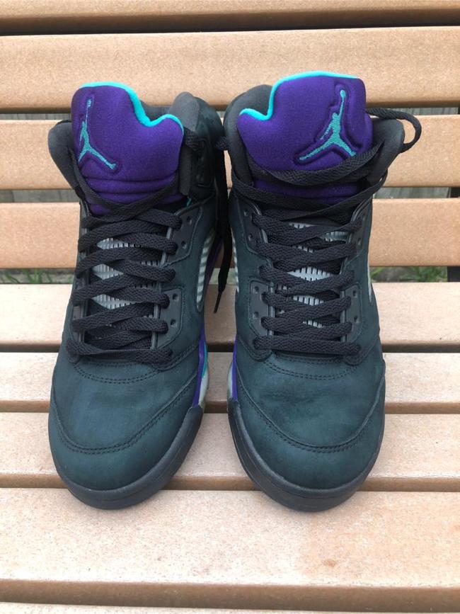 Photo Air Jordan 5 V Retro Black Grape vnds purple blue