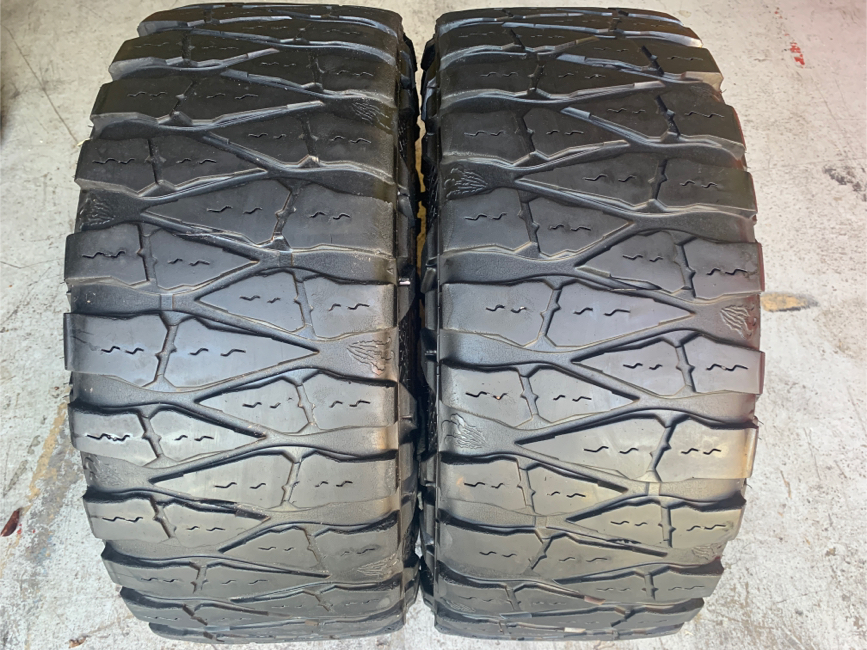 Photo Two 35x12.50R20 Nitto Mud Grappler extreme terrain tires with 80%