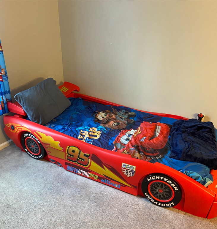 Photo Boys Race Car Bed