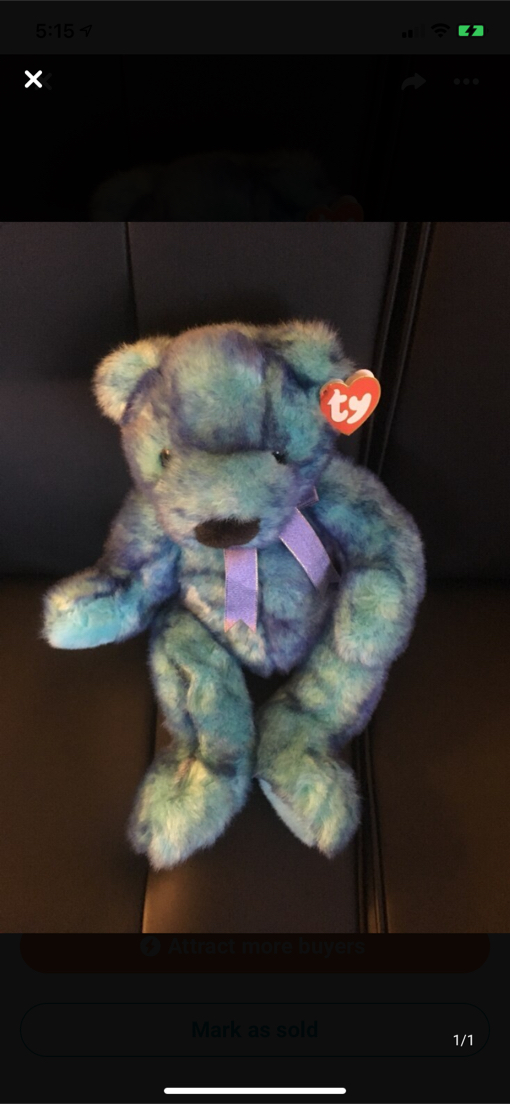 Photo TY baby Blue Beary $ 25.00