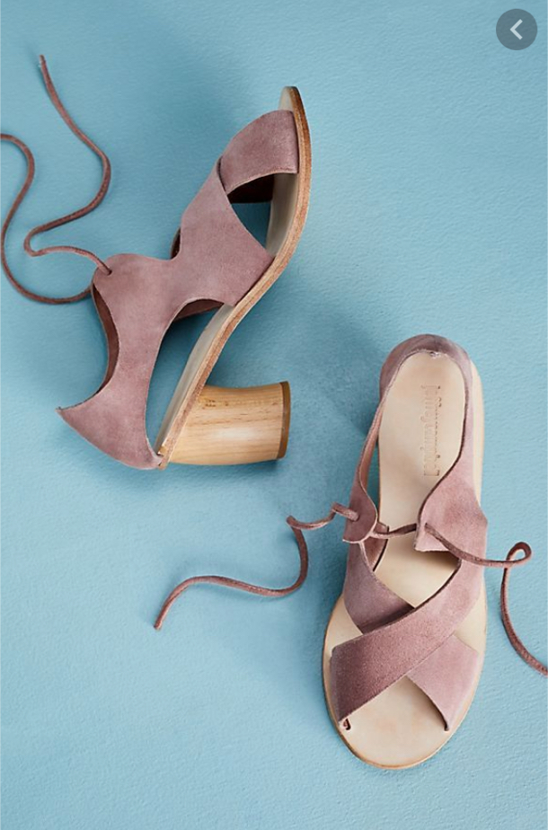 Photo NIB $138 Anthropologie Jeffrey Campbell Furtado Cross Straps Sandals Rose 8