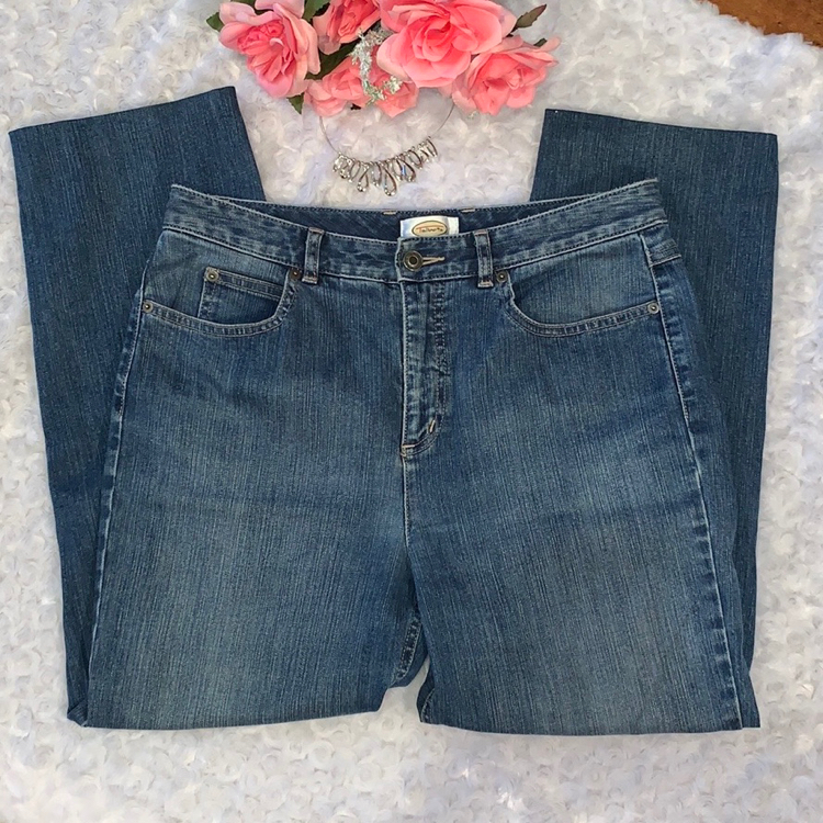 Photo Talbots Vintage Custom Hemmed High Waist Mom Jeans Size 10