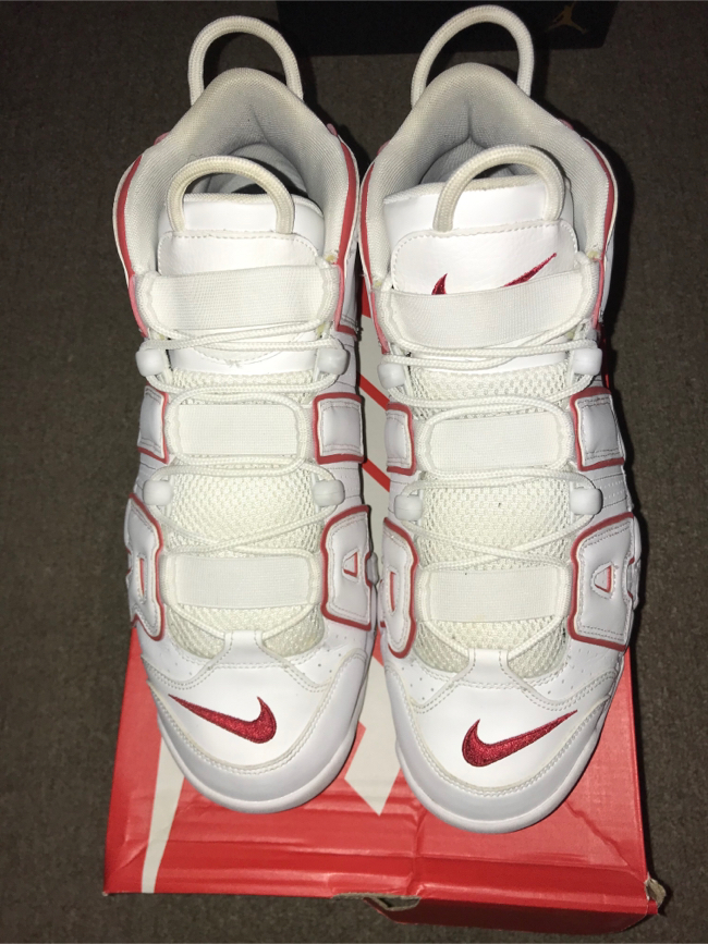 Photo Nike air uptempo white/red size 12