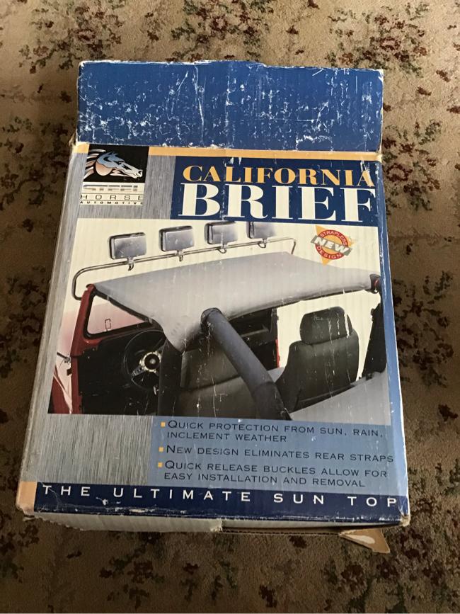Photo Steel Horse 92815 California Brief Top For 1992-1995 Jeep Wrangler Pre-own