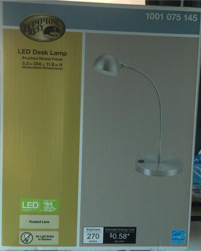 Photo Hampton Bay LED Desk Light, 5A1600N-SN