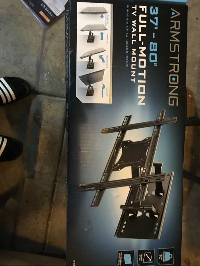 Photo 37 inch Dash 80 inch full motion TV wall mount