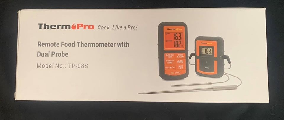 Photo BRAND NEW ThermoPro TP08S Wireless Digital Meat Thermometer for Grilling Smoker BBQ Grill Oven