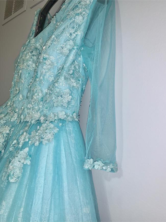 Photo Blue a line dress