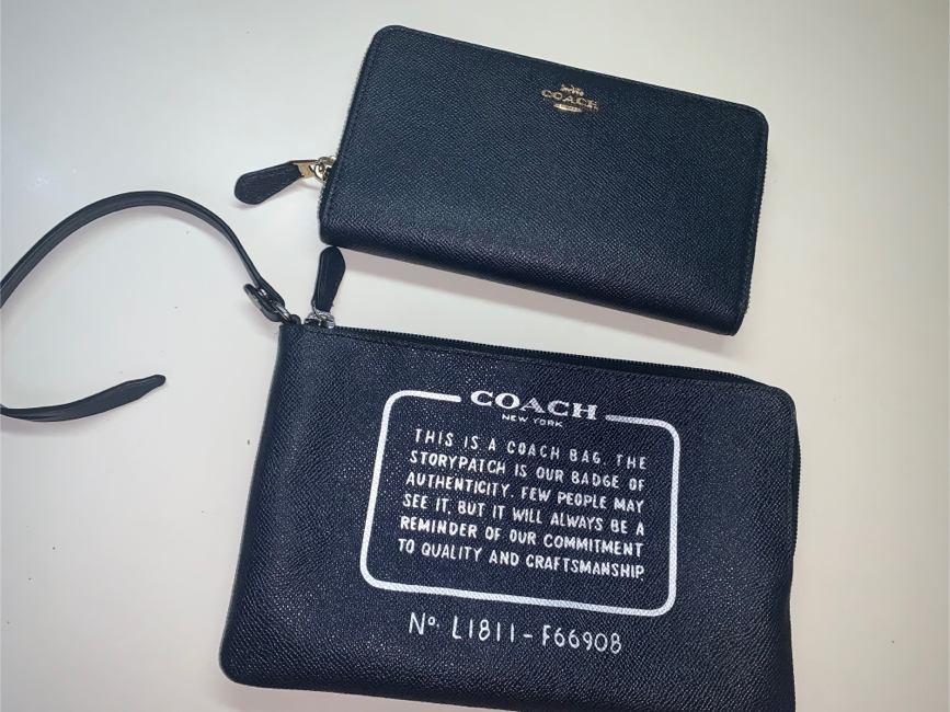 Photo Coach wallet and accessory bag