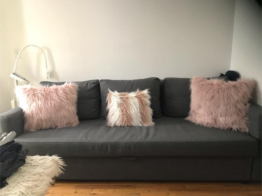 Photo Big gray IKEA sofa bed with storage underneath